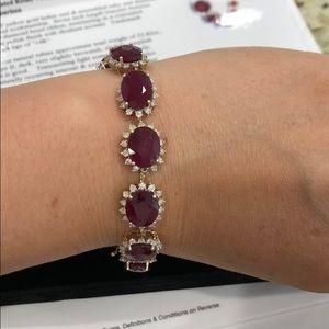 Jewelry - 52.82 carat ruby and diamond bracelet